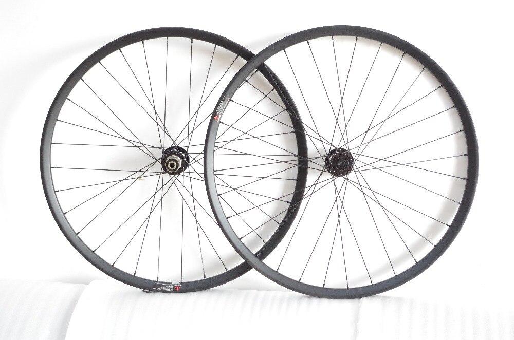 "DEERACE 29ER 32/32H MTB BOOST CLINCHER HOOKLESS carbon bike wheelset 29"" bicycle TUBELESS wheels Novatec D711SB-B15/D712SB-B12"