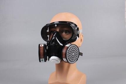Masque à gaz industriel respirateur avec masque intégré à charbon actif Anti-buée masque Pm2.5 Pesticides peinture pulvérisation