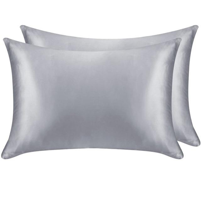 1 Pair 100% Mulberry Silk Pillowcase with Hidden Zipper Nature Pillow Case for Healthy Standard Queen King Free Shipping 5