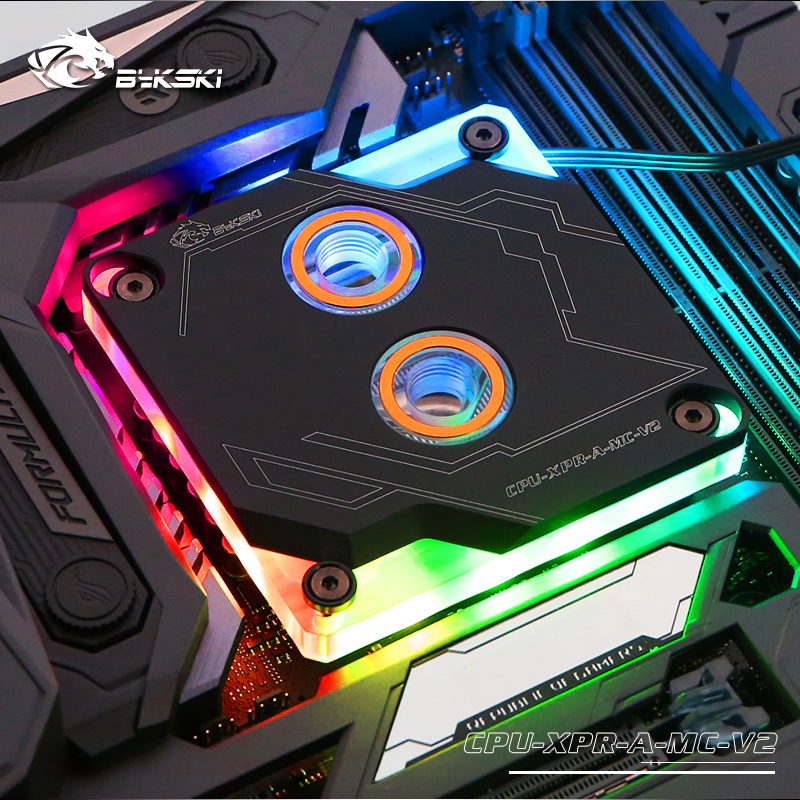 Bykski Motherboard Symphony AURA Sync CPU Water Block For INTEL 1151 115x 2011 2066 I7 CPU