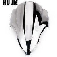 Chrome For Suzuki GSXR1300 Hayabusa 1999 2007 Motorcycle Windshield Windscreen Shield Double bubble GSXR 1300