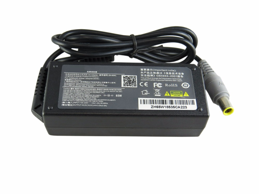 20 V 3.25A 65 W Laptop Ac Power Adapter Chargeur Pour Lenovo T410 T410S T510 Sl410 Sl410K Sl510 Sl510K T510I X201 X220 X230