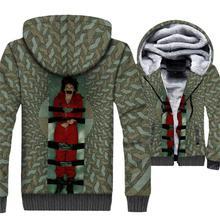 Funny The Paper House Sweatshirts 2018 Winter Thick Mens Hoodies Hip Hop Unisex Zipper Hoodied Streetwear 3D Anime Coat Jackets