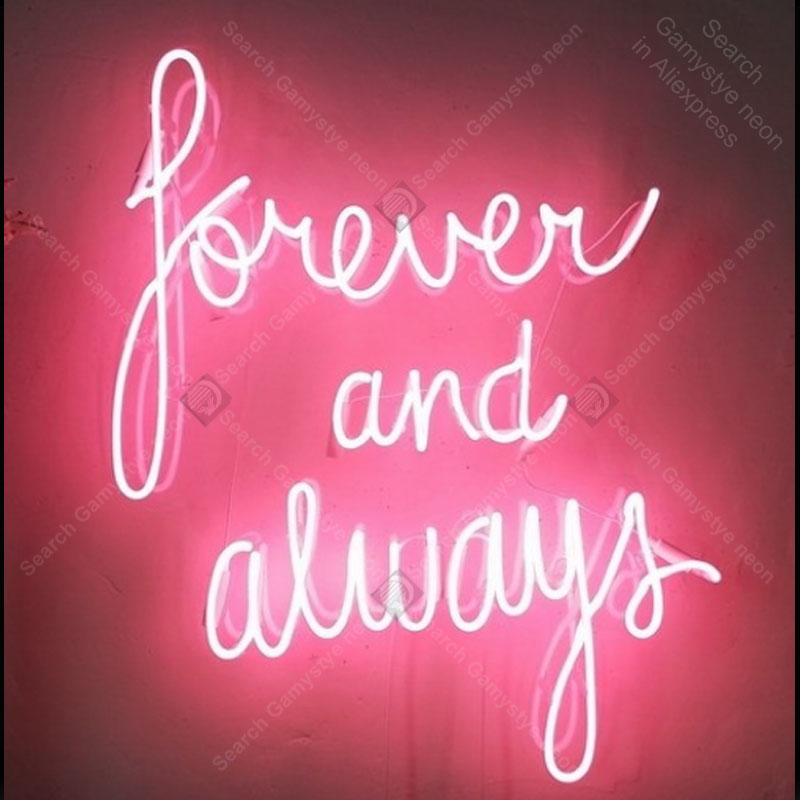 Neon Sign Forever And Always Light