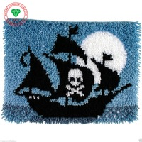 Hot Latch Hook Rug Kits DIY Needlework Unfinished Crocheting Rug Yarn Cushion Mat Embroidery Carpet Corsair