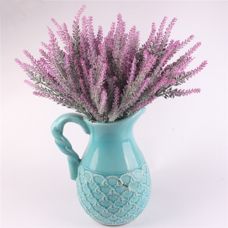 Image 4 - Romantic Provence decoration lavender flower silk artificial flowers grain decorative Simulation of aquatic plants-in Artificial & Dried Flowers from Home & Garden