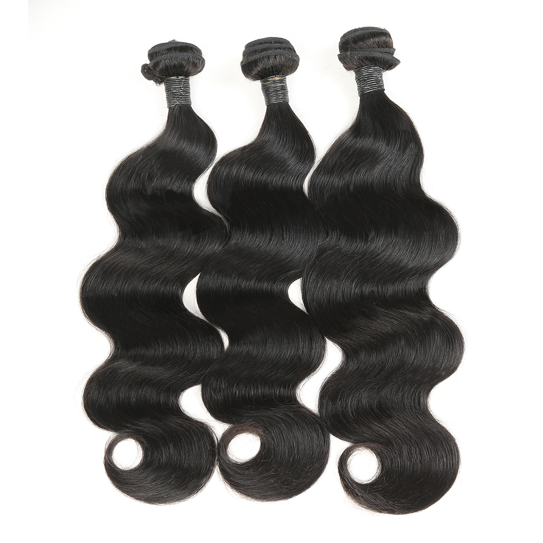 1/3/4 Bundles Peruvian Body Wave Hair Extensions zing silky 100% Human Hair Bundles 300g Natural Color Remy Hair Weave for black