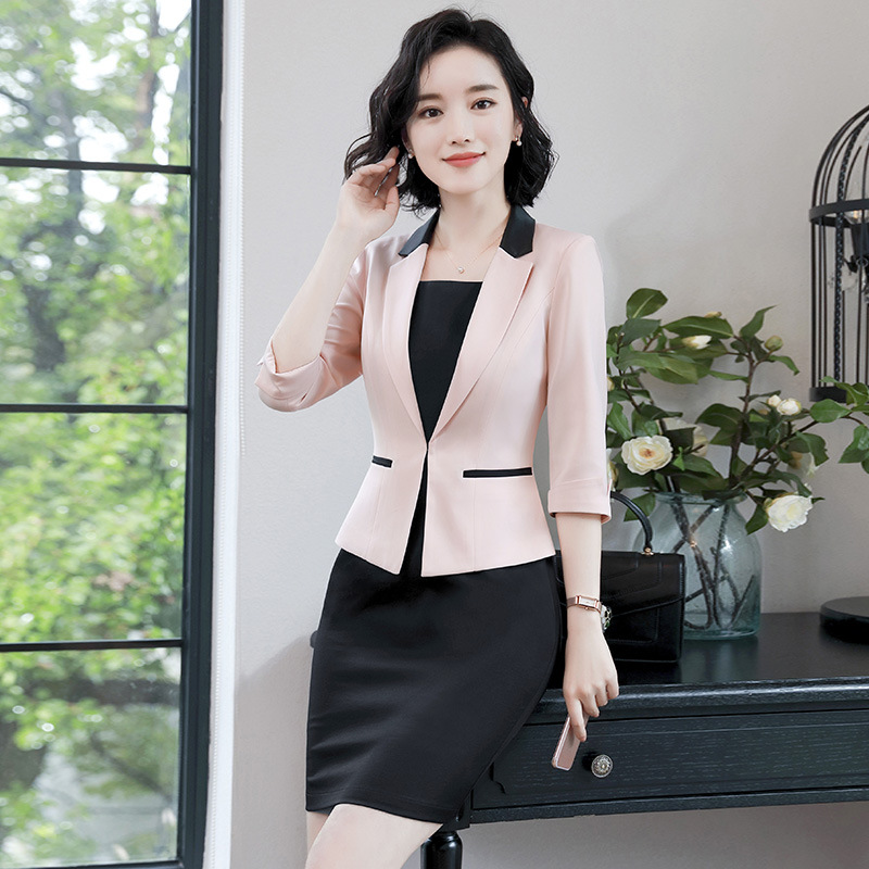 ... Dress Blazer Formal Americanas Oficina Solo Set Chaqueta Trabajo only  Ol Rosa Set Vestido Pink Negocios 01c3076afdf4