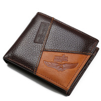 Genuine Leather Men Wallet Famous Luxury Brand Zipper Male Purse With Coin Pocket BID086 PM49