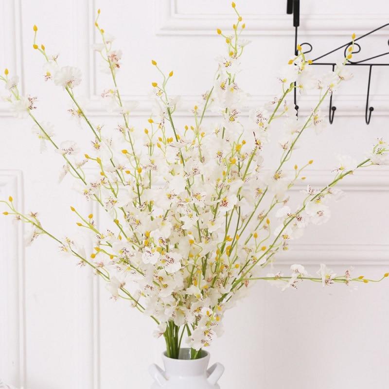 새로운 5 사람들 인공 Buttterfly 난초 꽃 지점 가짜 실크 꽃 나무 결혼식 홈 파티 장식 장식 P0.2