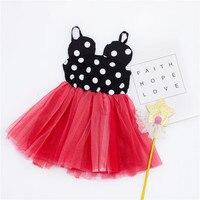 ZTKIDS Baby Girls Cute Dresses Summer Toddler Cartoon Mouse Tutu Dress Fashion Polka Dot Kids Yarn