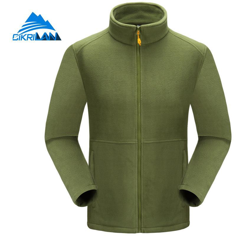 Mens Outdoor Sport Camping Climbing Thermal Fleece Jacket Men Full Zip Coat Polar Fleece Jackets Long Sleeve Jaqueta Masculino
