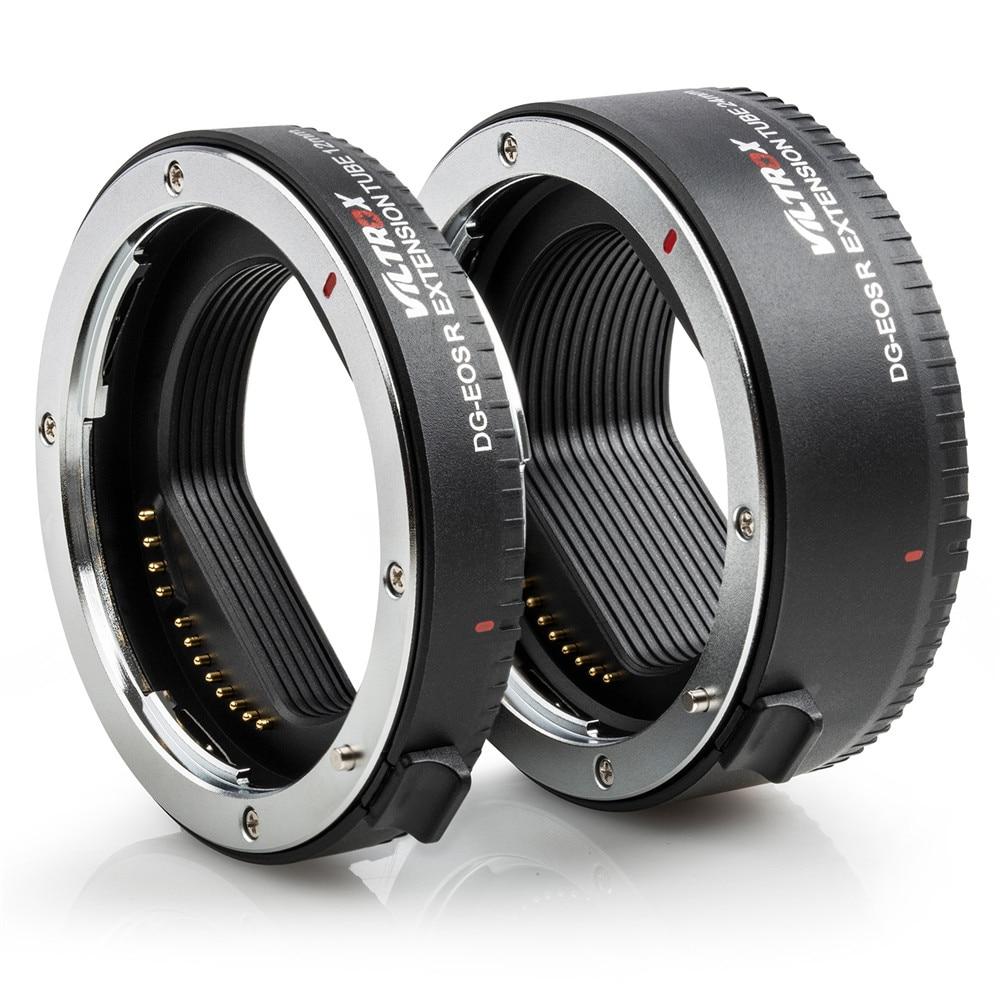 Adaptateur d'objectif de Tube d'extension Macro à mise au point automatique Viltrox DG-EOS R pour appareil photo Canon EOS R RP - 5