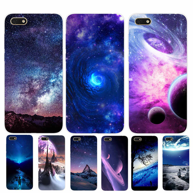 "Star Silicon Case For Huawei Honor 7A Case 5.45"" Soft Phone Case For Huawei Honor 7A 7 A DUA-L22 Russian Back Cover Coque Bumper"
