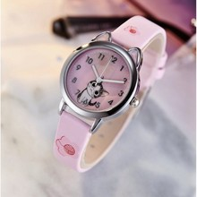 NEW arrive Cute Cheese Cat Pattern Kids Watch Quartz Analog