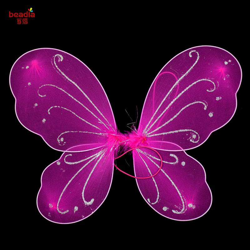 5689e854bf 1pc bag size 35x42cm Colorful SilkButterfly Wings Kids Girl Princess Fairy  Butterfly Wings Wedding Halloween Party Decor-in Party DIY Decorations from  Home ...
