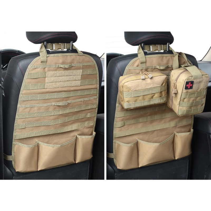 Image 5 - Tactical Pouch MOLLE Car Seat Back Organizer Backpack Vehicle Panel Car Seat Cover Protector Universal Fit Hunting Accessories-in Pouches from Sports & Entertainment
