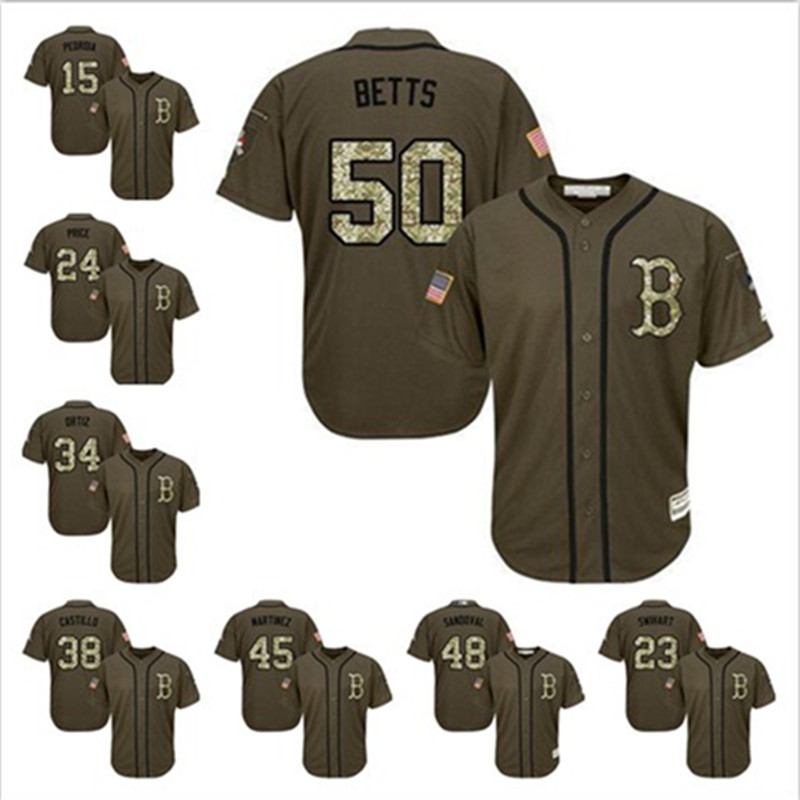 huge discount e3ee2 bc709 low price mookie betts 50 boston red sox white 2017 memorial ...