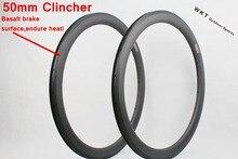 25mm Width 700C Carbon Road Bike Rims 50mm Clincher Carbon Fiber Bicycle Rims
