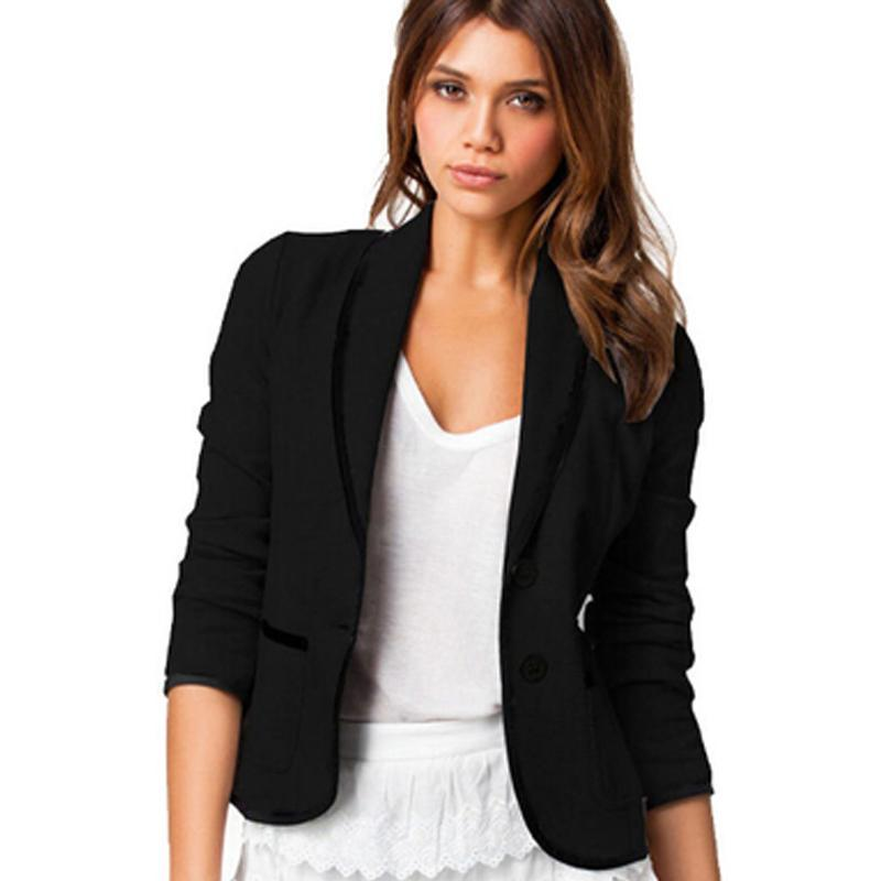 2017 New Women Blazer Casual Long Sleeve Women Blazer -8031
