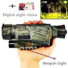 Монокуляр Ночное видение Инфракрасный цифровой возможности для охоты телескоп Длинные диапазон со встроенным Камера стрелять фото Запись видео