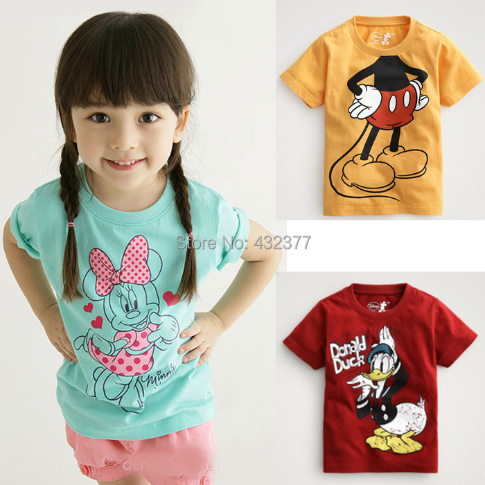 Promo New boy girl T shirt Cartoon Children Children Tops