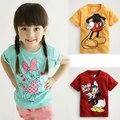 Promo nueva muchacha del muchacho camiseta niños de dibujos animados niños niños Tops camisetas desgaste del verano de manga corta ropa bebé tamaño 2T-7