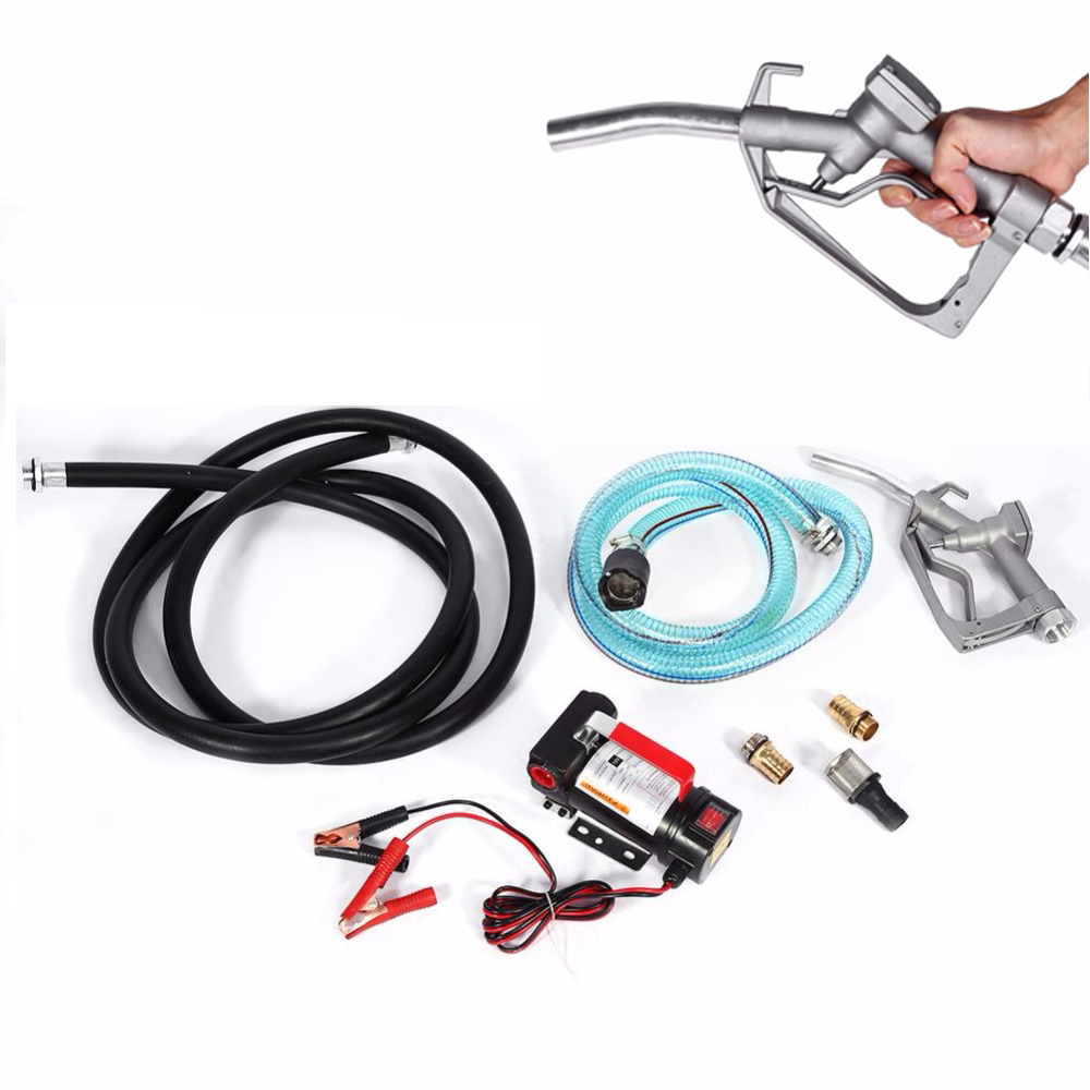 Buy Oversea Fuel Transfer Pump 12v Electric Diesel Filter Fluid Extractor Auto Oil With Nozzle Car Accessories From