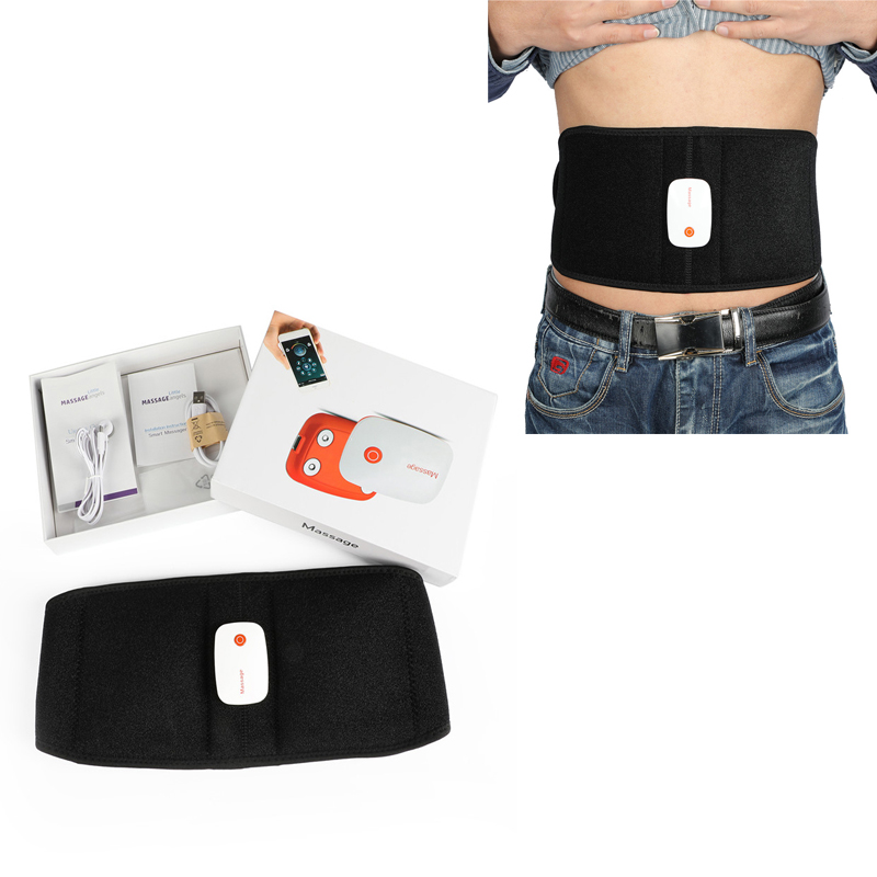 Digital EMS Therapy Massager Machine Acupuncture Stroke Muscle Simulator Sculptor Massage Electrode Pads By App Training Tools 3 digital lcd screen display acupuncture massage therapy machine orange black 3 x aaa
