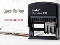 Trodat 4813 Customize Date Stamp Self Inking Rubber Mini Date Stamp Chop Custom Design Production Date