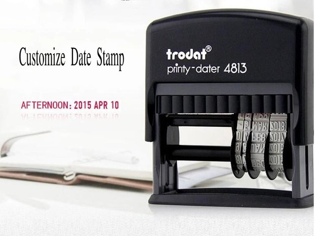 Customize Date Stamp Self Inking Rubber Expiration Production