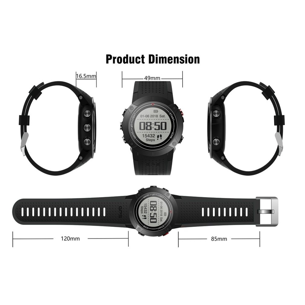 DM18 GPS Sports Watch Smart Band Stopwatch Alarm Clock Sedentary Pedometer Heart Rate Monitor Waterproof Wristwatch For Iphone