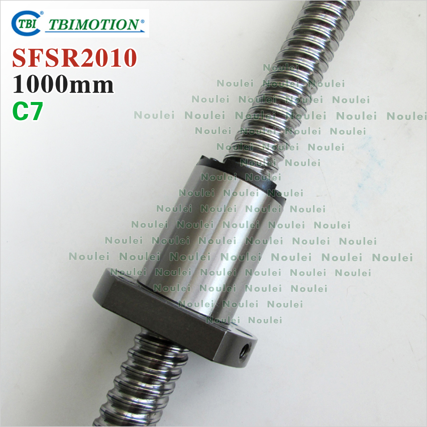 original New Taiwan TBI 2010 ballscrew 1000mm with SFS type ball but 10mm lead for CNC kit 4pcs new for ball uff bes m18mg noc80b s04g