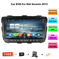Octa Core Android 6.0 RAM 2G 32G ROM For KIA Sorento 2013 Car DVD Player GPS Radio WIFI Bluetooth Map USB Audio support DAB+