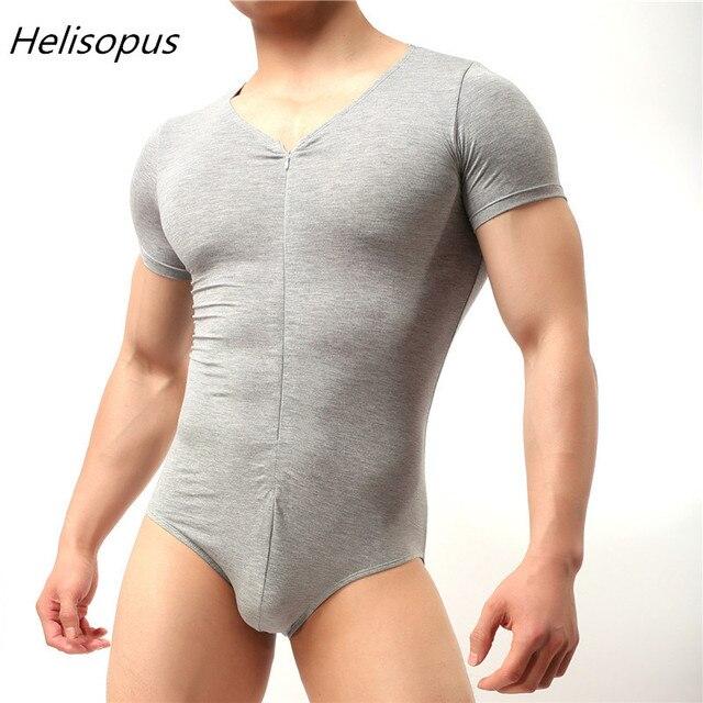Ropa Pieza Interior Bebé Mono Helisopus Hombres Camisetas Corsé Modal Una De Cuerpo Culturismo Slim K1JclF3T