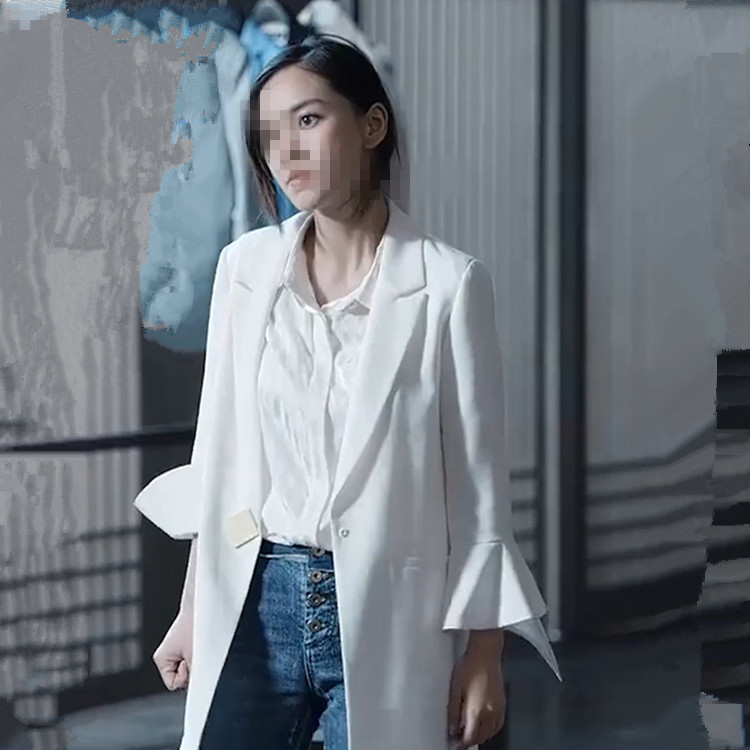Entrepreneurship Yang Ying Angelababy Is The Same White Han Fan Suit As The White Small OL Suit And Jacket Woman 2019 Coats