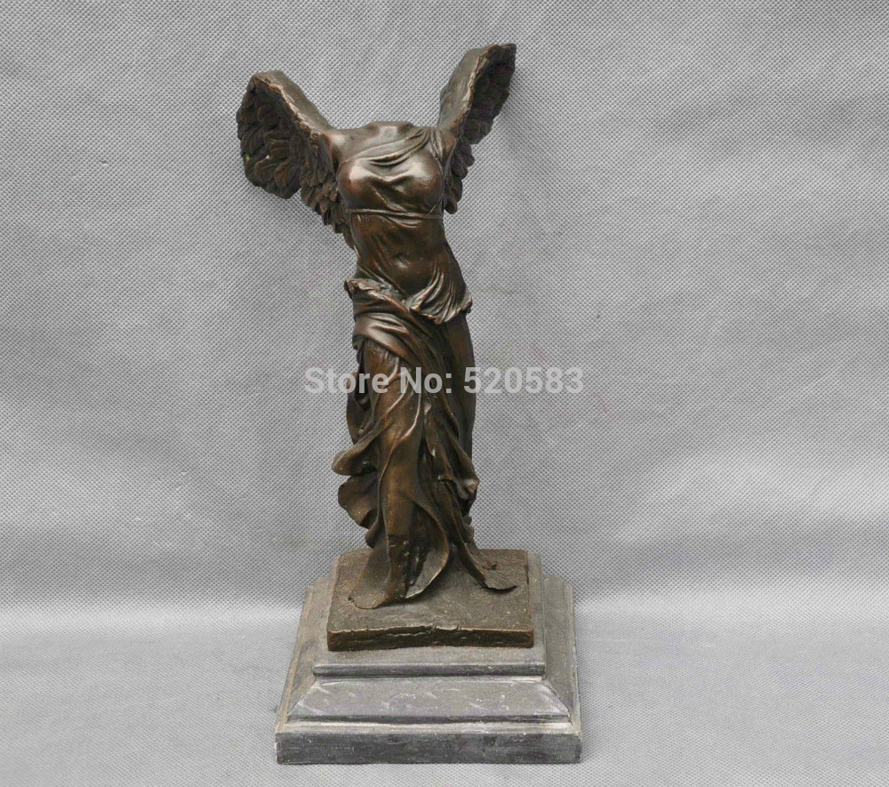 FREE SHIPPING S1689 24 Bronze Winged Victory Lady Goddess