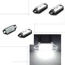 2 sztuk światło tablicy rejestracyjnej samochodu Led żarówka dla Ford Mondeo MKIII44/5D 2000-2007 12V 24SMD LED lampa podświetlająca numer tablicy rejestracyjnej