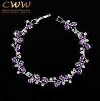 7 Colors Magnet Clasp Handmade Hundreds Austrian Crystal Rhinestone Purple Wrap Bracelets Bangles For Women CB078