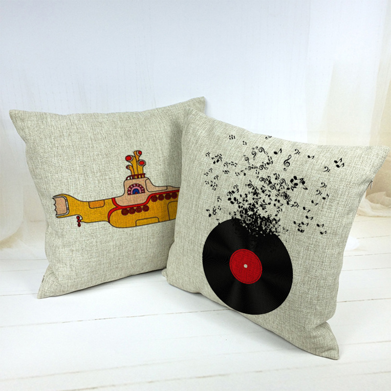 Square Pillowcase Submarine Cushion Cover Pillow Case For Sofa Home Decor F