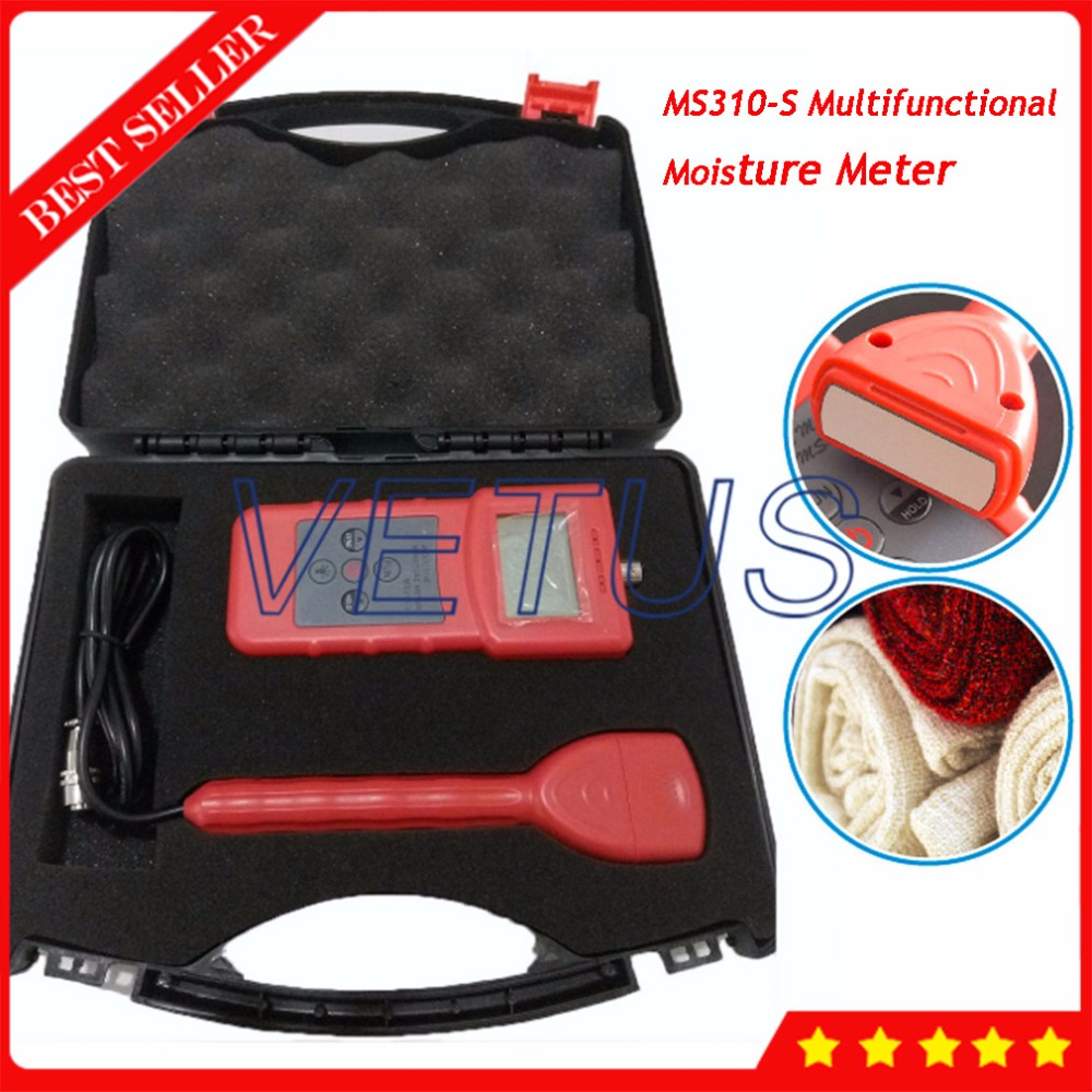 MS310 S Inductive Portable Moisture Meter For Textile