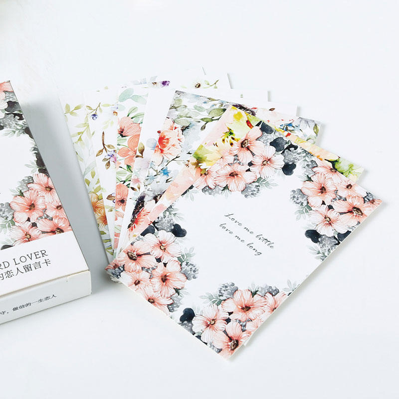 """28 Pcs/box Elegant """"bloom Flowers """" Creative Small Cards Greeting Card Postcards Message Card Holiday Universal Free Shipping"""