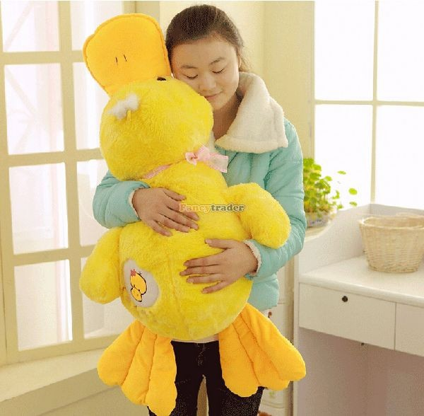 Fancytrader 39\'\' 100cm Lovely Stuffed Giant Plush Yellow Rubber Duck, Free Shipping FT50268 (1)