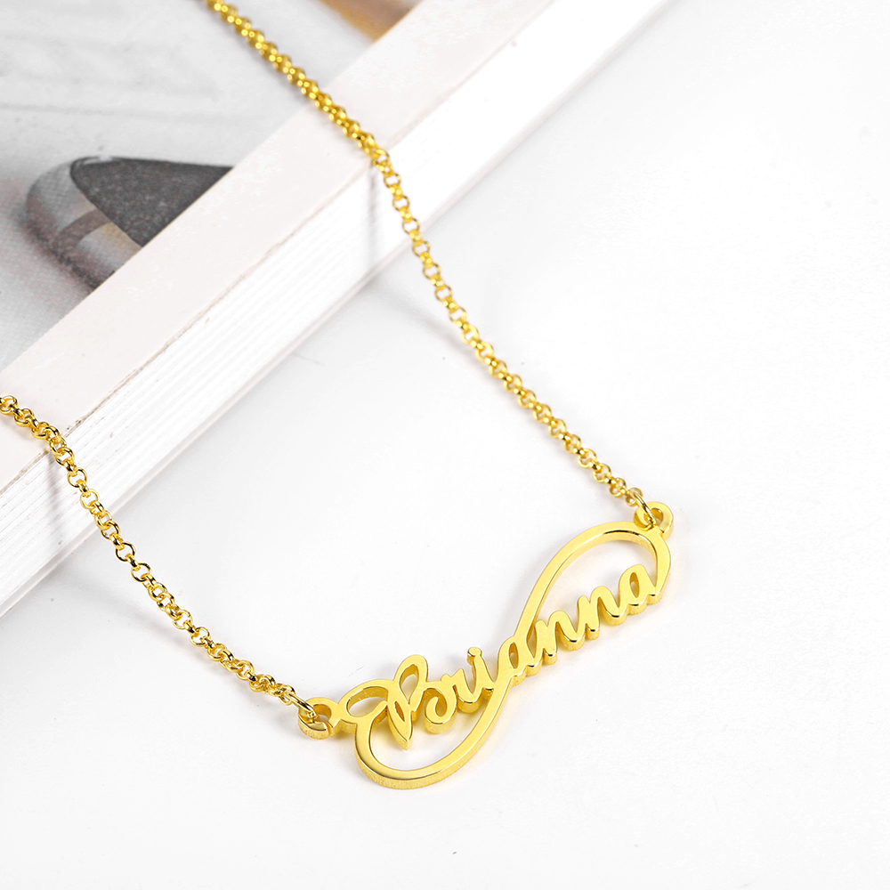 WindJune Custom Name Necklace Women Necklace & Pendant Stainless Steel Personalized NameNecklace Custom Jewelry Gift Wholesale (1)