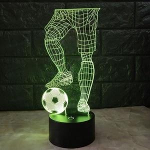 Image 4 - 3D ฟุตบอล TOUCH โคมไฟตั้งโต๊ะ 7 สีเปลี่ยนโคมไฟตั้งโต๊ะ USB Powered โคมไฟกลางคืนฟุตบอลไฟ LED Decor ของขวัญห้องนอน