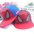 3 - 8 anos moda crianças dos desenhos animados do homem aranha esportes de beisebol Snapback ajustável chapéus Fit para 48 - 53 cm