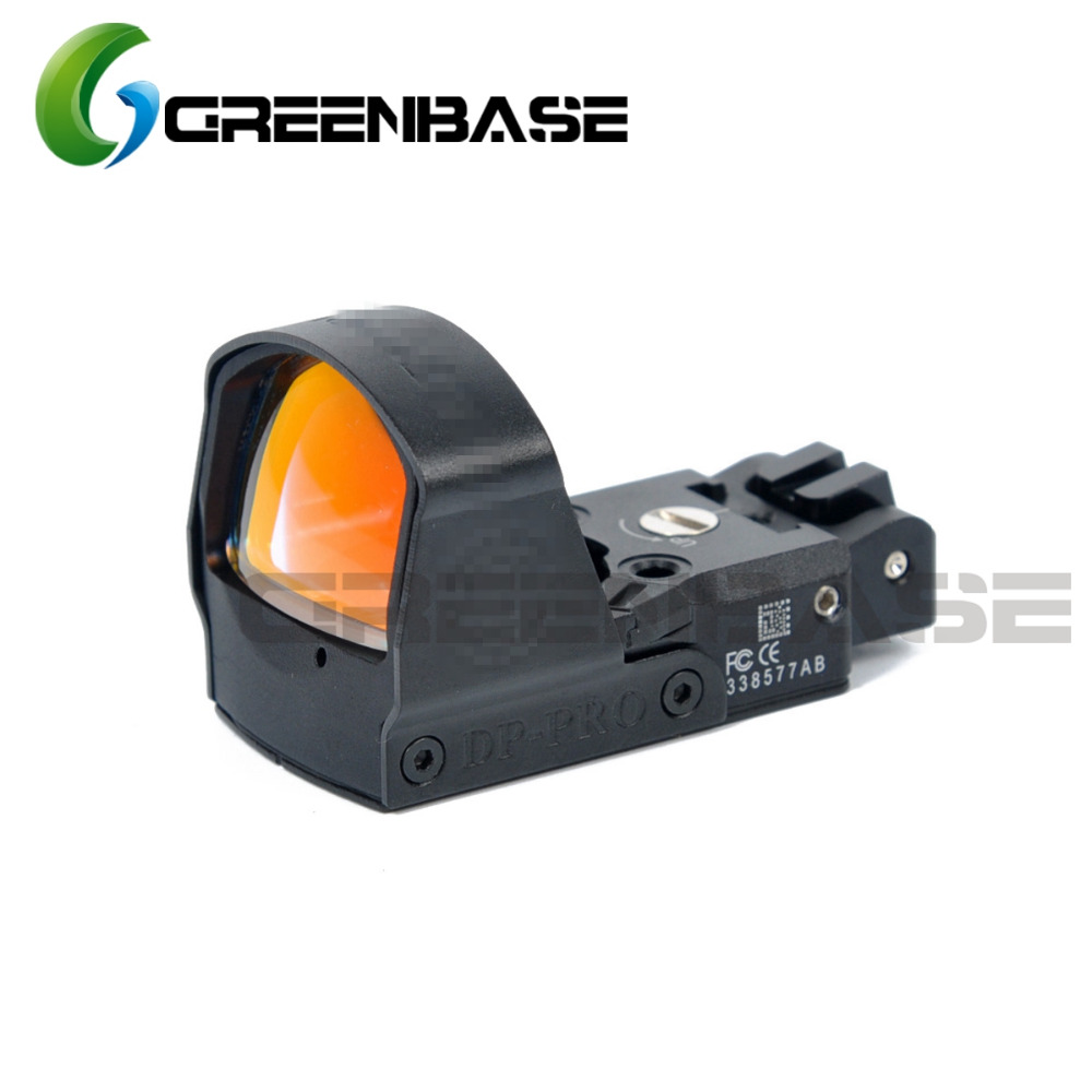 Greenbase Optics DP Pro Red Dot Sight Mini Reflex Rear Sight Pistol Hunting Scopes Rifle Aim Fit Airsoft Glock 1911 1913 Mount lp style dp pro red dot sight with the 1911 1913