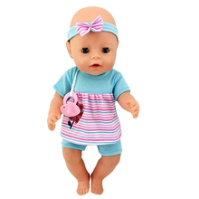 Fit 18 inch 43cm Clothes For Doll Born New Baby Bee Red Sunflower with HairHand Clothes Accessories For Baby Birthday Gift born new baby fit 18 inch 43cm clothes for doll blue pink red star with hairhand clothes accessories for baby birthday gift