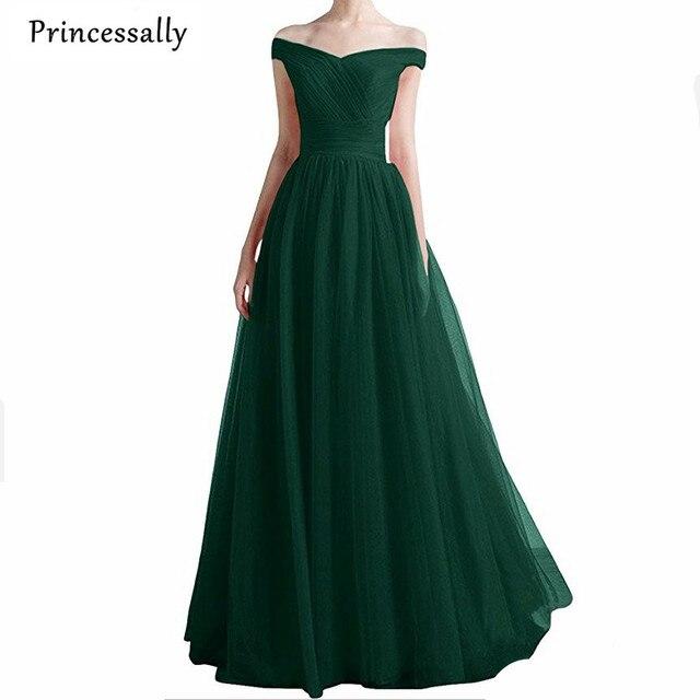 Favoloso Robe De Soiree Verde Smeraldo Abiti Da Cerimonia Lunghi Scollo A  ZI86