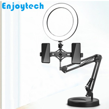 New Multi-function Foldable Mounts Stands Holder LED Ring Flash Light Lamp Tabletop Tripod for Video Bloggers